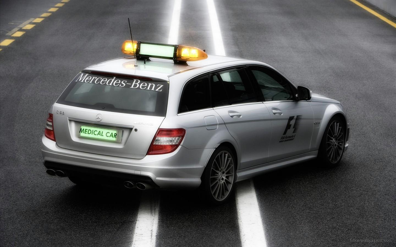 2009 mercedes benz f1 medical car rear wallpaper in for Mercedes benz f1 car