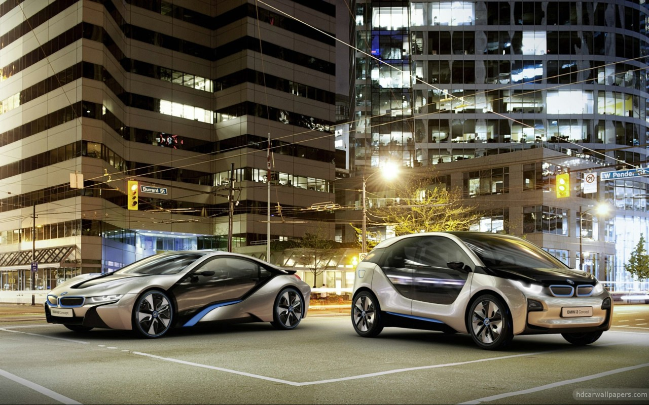 2012 BMW i8 & i3 Concept Cars Wallpaper in 1280x800 Resolution