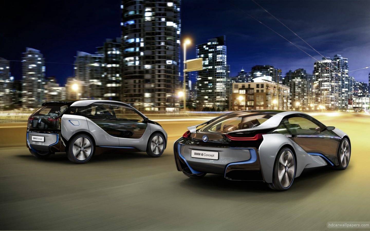 2012 BMW i8 & i3 Concept Cars 4 Wallpaper in 1440x900 Resolution