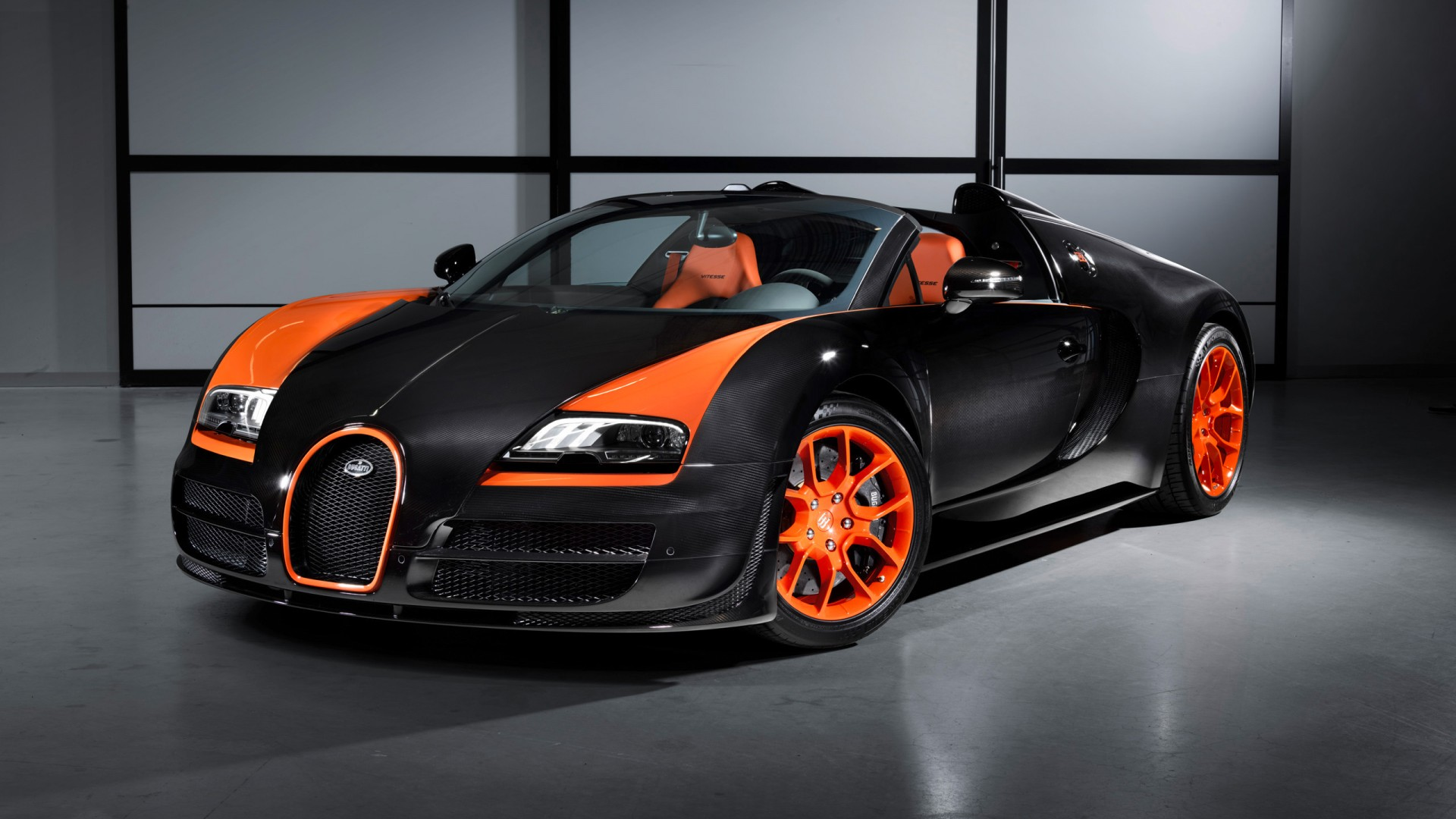 2013 bugatti veyron 16 4 grand sport vitesse world speed record wallpaper in 1920x1080 resolution. Black Bedroom Furniture Sets. Home Design Ideas