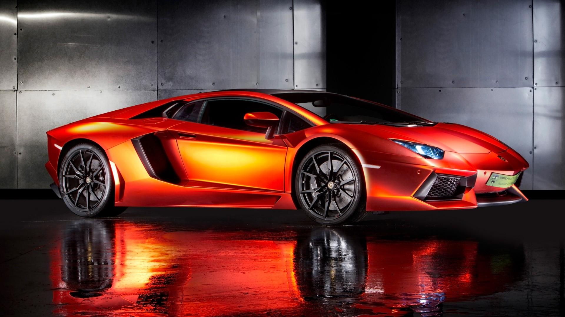 2013 Lamborghini Aventador By Print Tech Wallpaper Hd