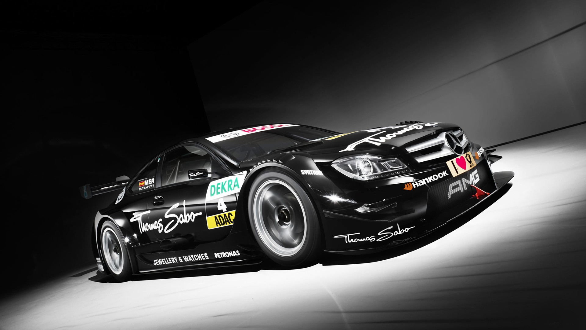2013 Mercedes AMG C Coupe DTM Wallpaper HD Car