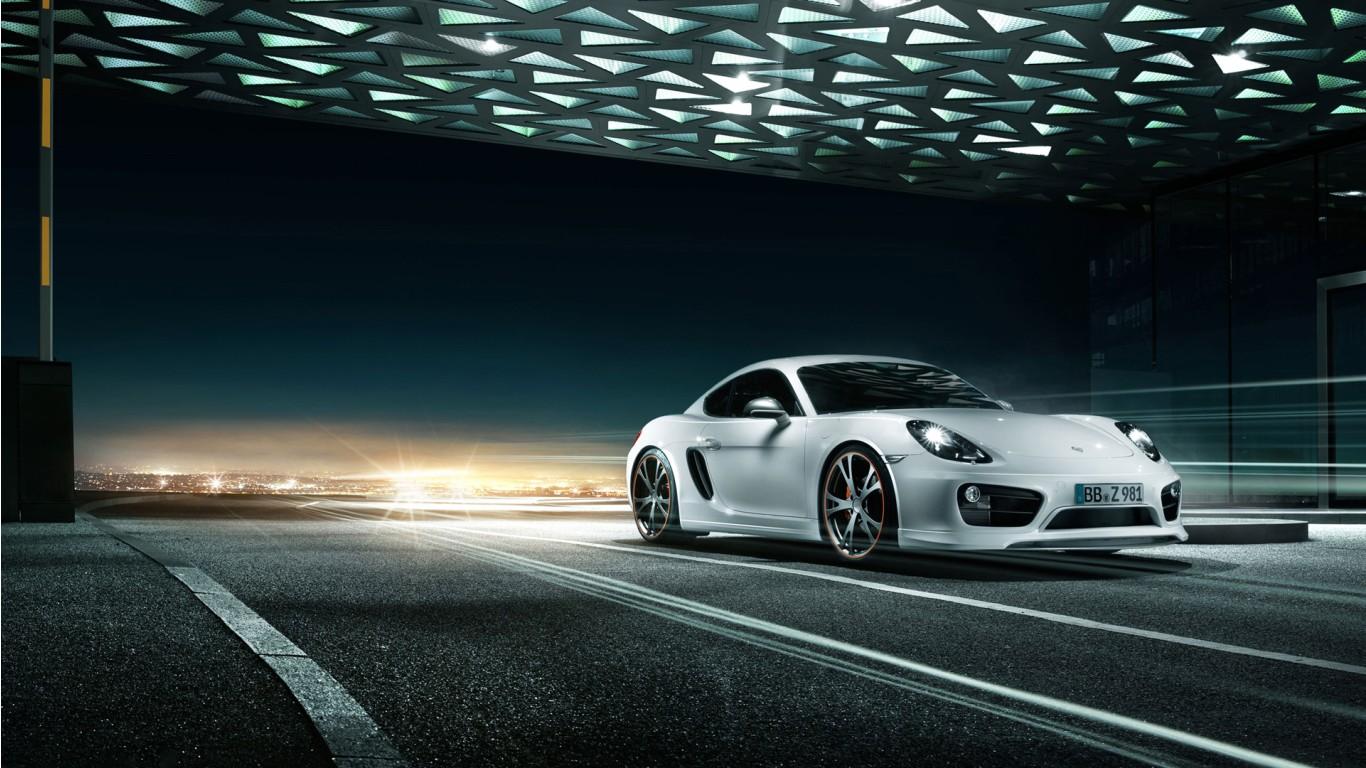 2013 Porsche Cayman by Techart Wallpaper in 1366x768 Resolution