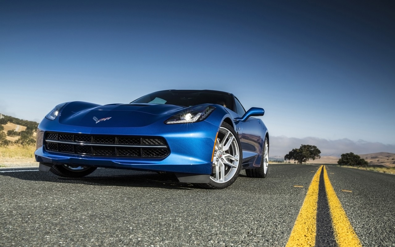 2014 chevrolet corvette stingray blue wallpaper hd car