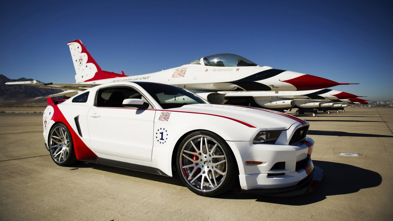 2014 Ford Mustang GT US Air Force Thunderbirds Edition Wallpaper | HD ...