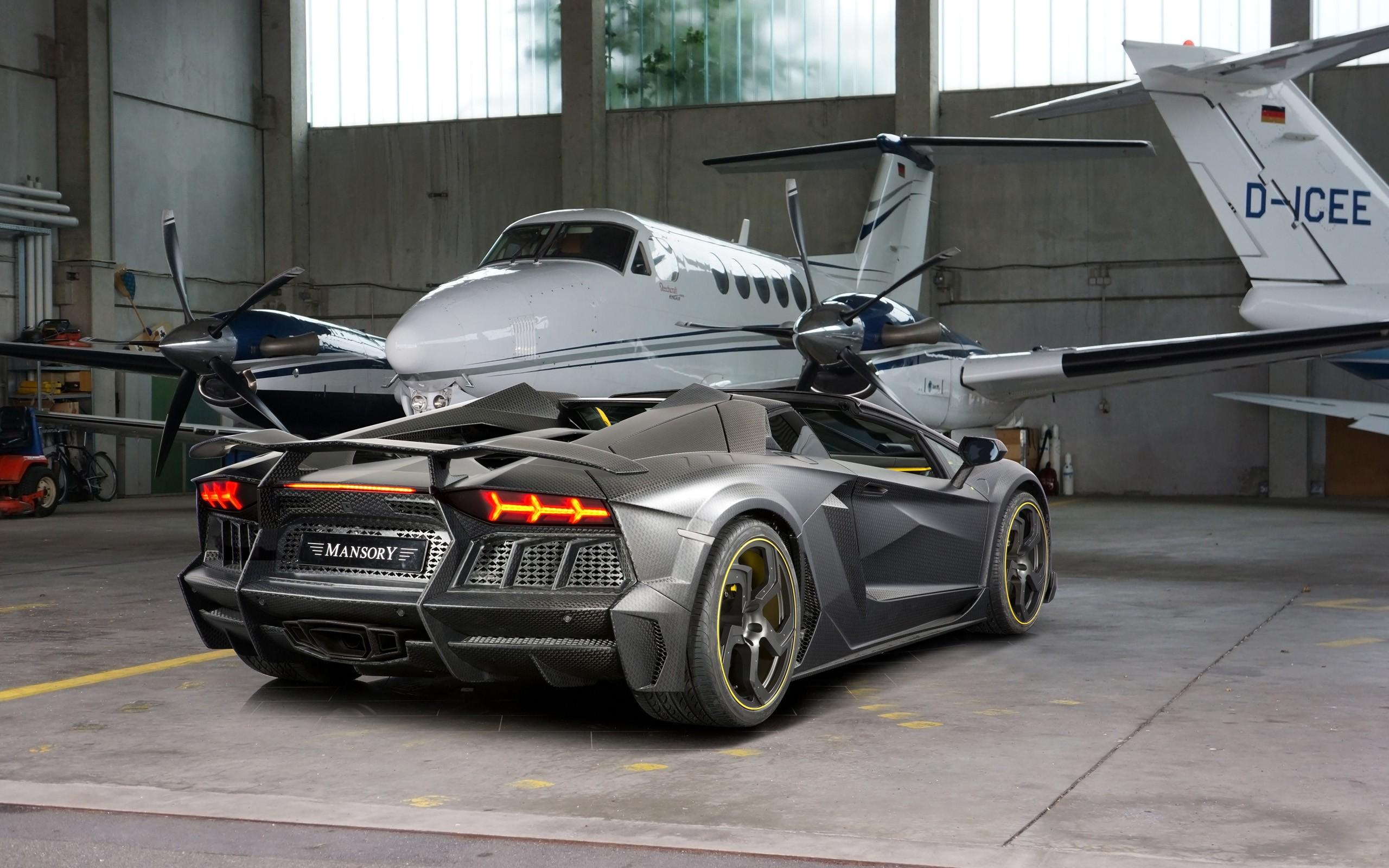 Cars Wallpapers: 2014 Mansory Lamborghini Aventador Carbonado Roadster 2