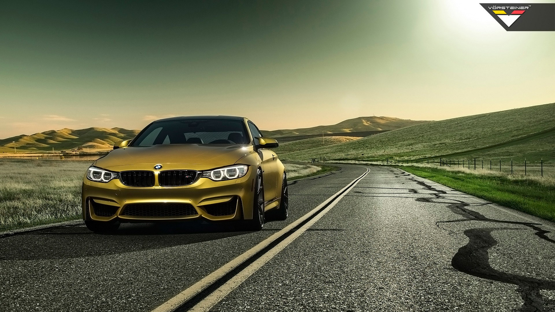 2014 vorsteiner bmw m4 austin yellow wallpaper