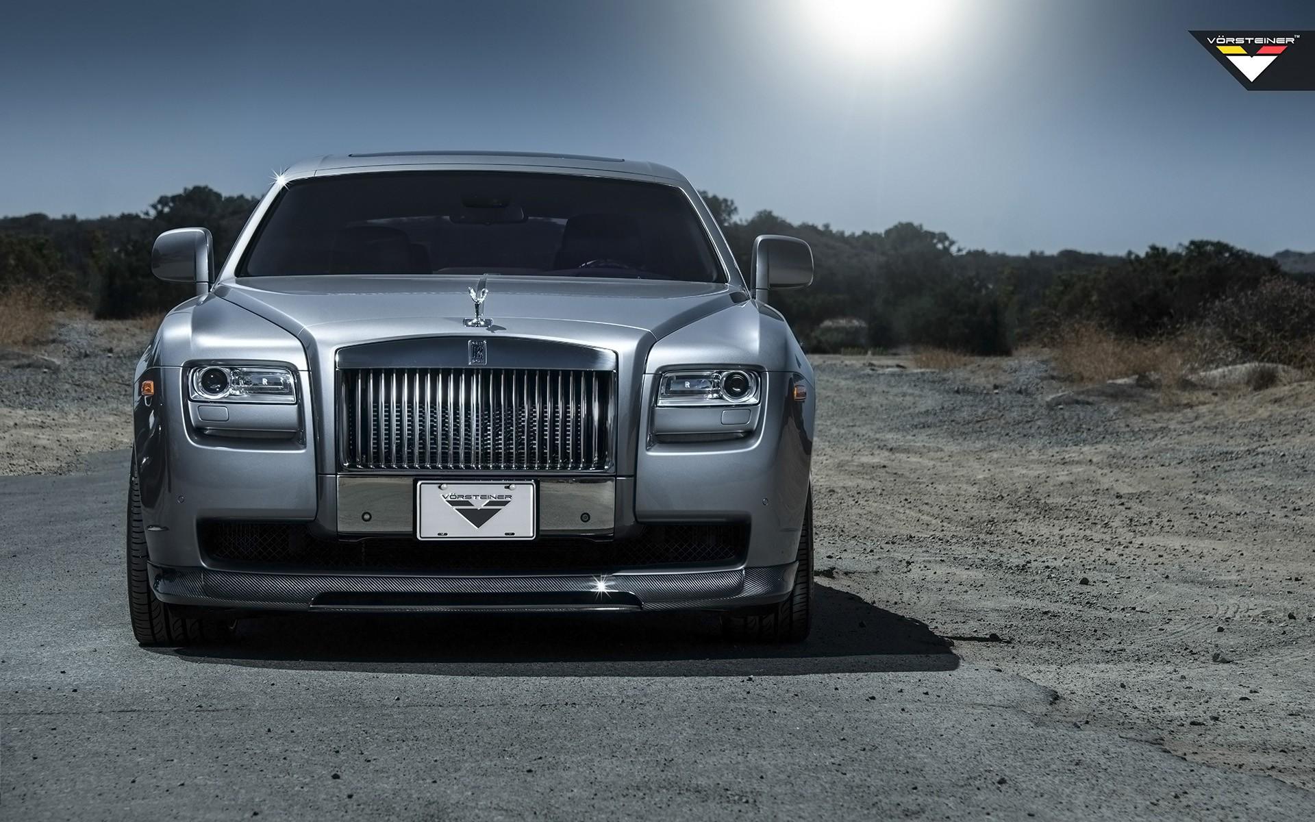 2014 vorsteiner rolls royce ghost silver wallpaper hd - Royal royce car wallpaper ...