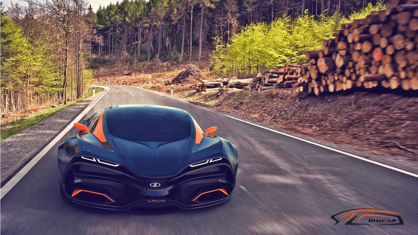 Car Wallpapers Backgrounds Hd: 2015 Lada Raven Supercar Concept Wallpaper