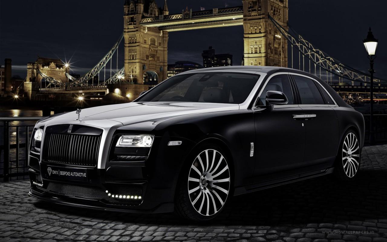 2015 Onyx Rolls Royce Ghost San Mortiz Wallpaper