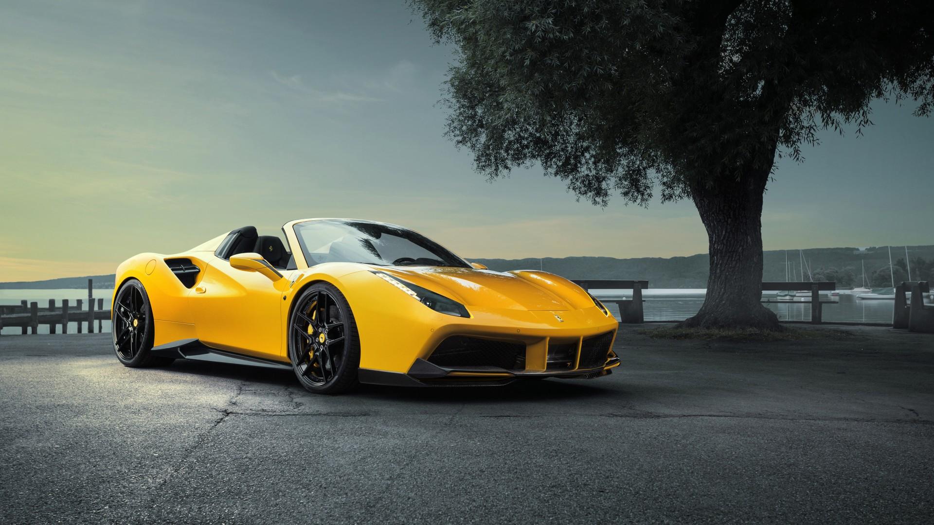 Background Car Hd Wallpapers Cities: 2016 Ferrari 488 GTS Novitec Rosso Wallpaper