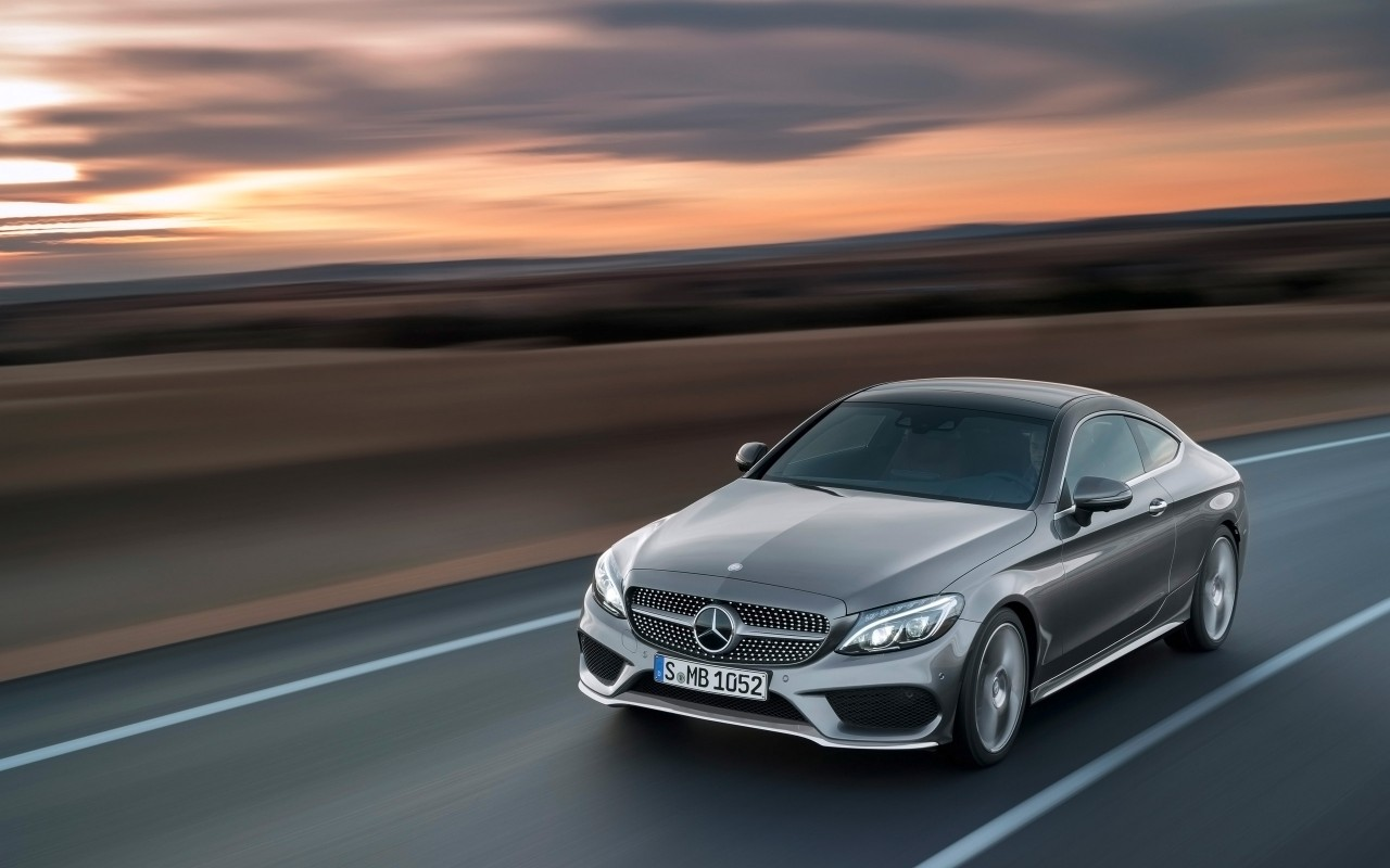 2016 Mercedes Benz C Class Coupe Red Grey Wallpaper