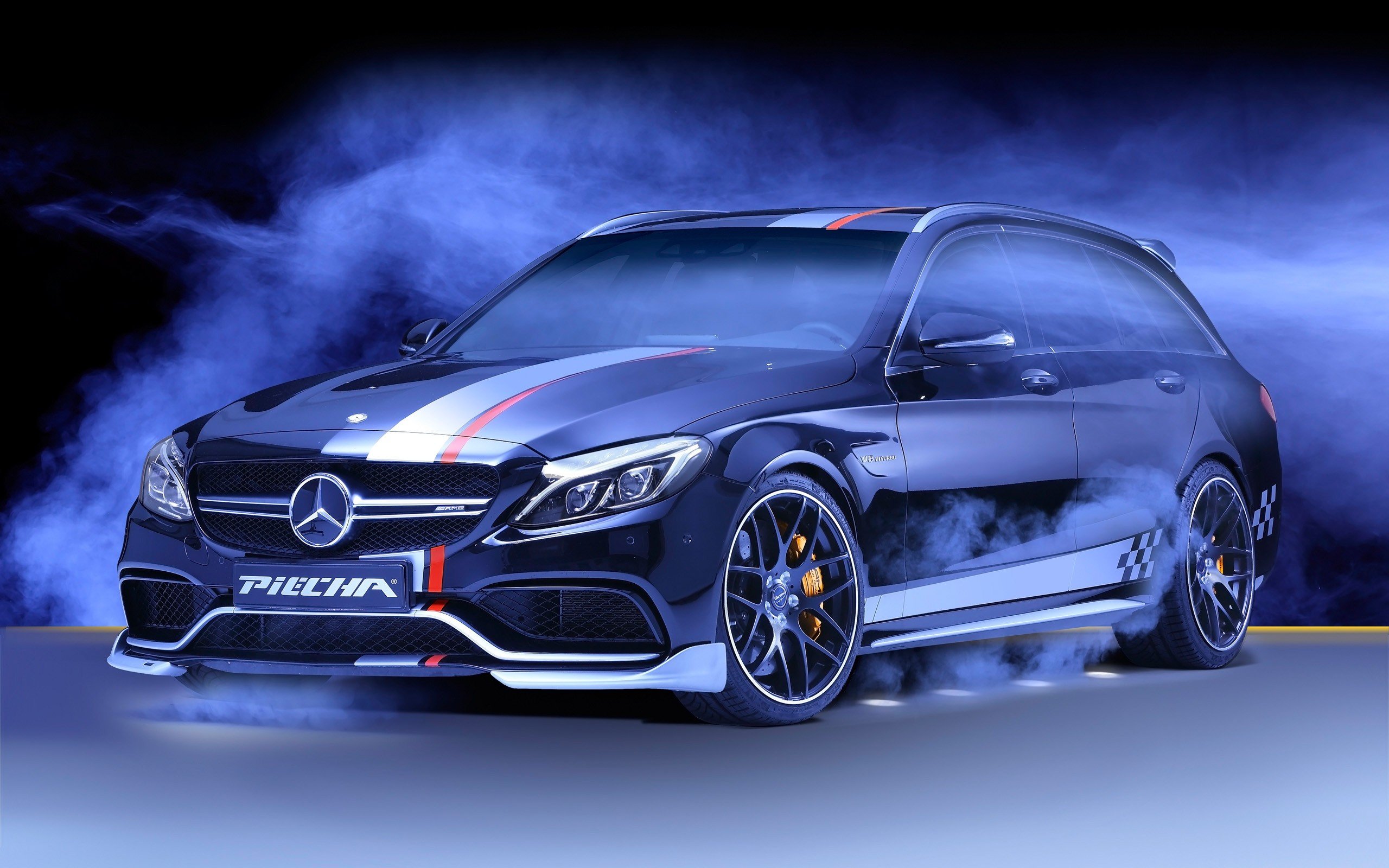 2016 Piecha Design Mercedes Amg C63 Estate Black Wallpaper