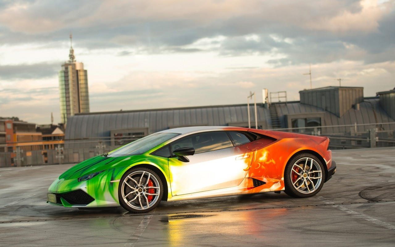 2016 Print Tech Lamborghini Huracan Wallpaper