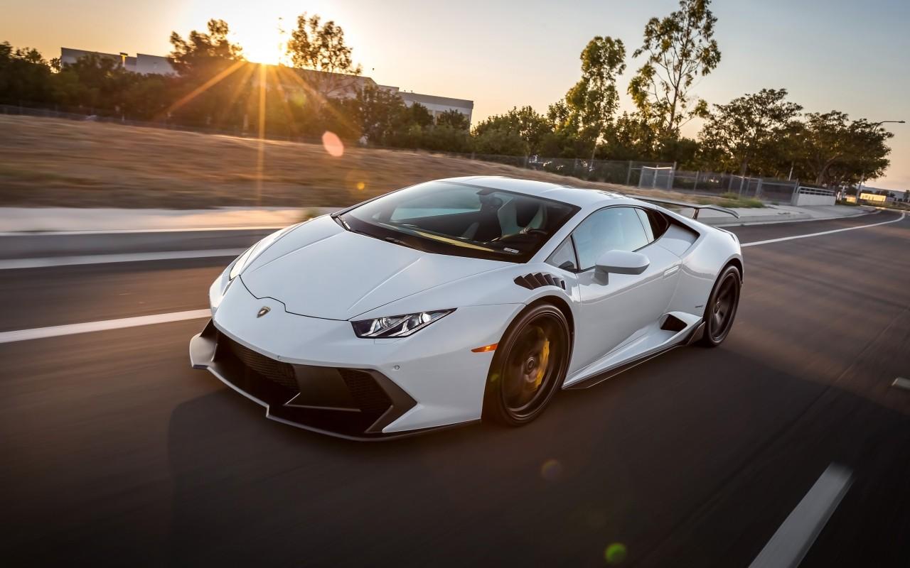 2016 Vorsteiner Lamborghini Huracan Novara White Wallpaper