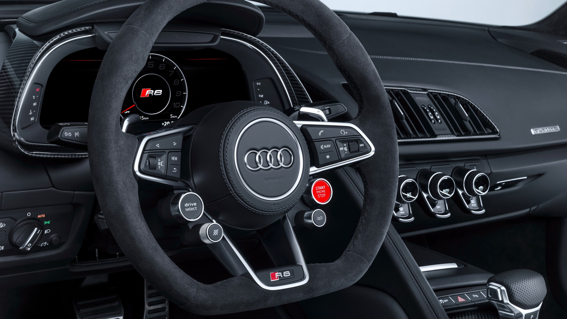 2017 Audi R8 V10 Performance Parts Interior Wallpaper Hd