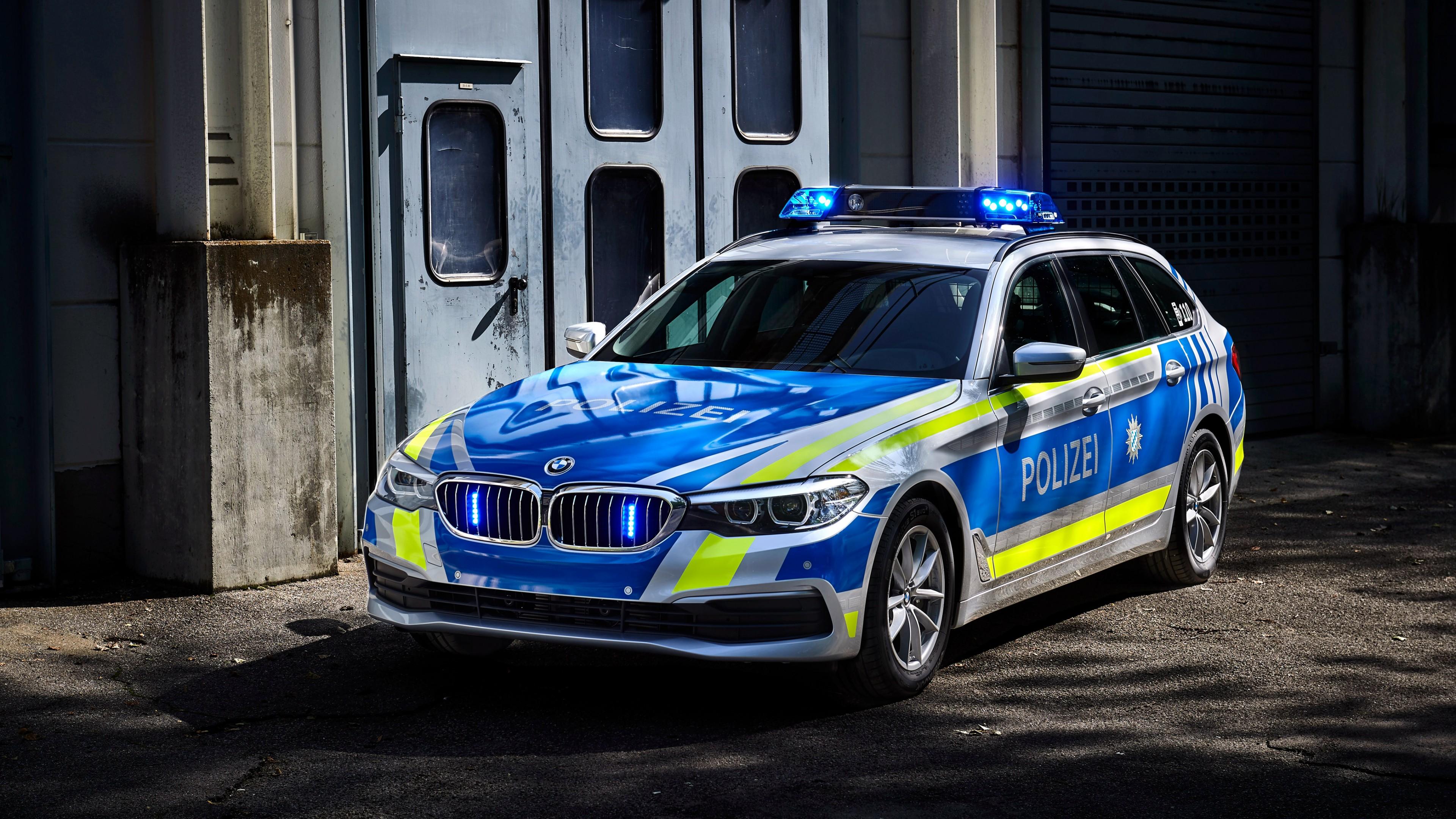 2017 Bmw 530d Xdrive Touring Polizei 4k Wallpaper Hd Car Wallpapers Id 8380