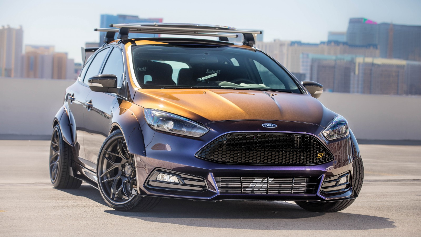 2017 Ford Focus St By Blood Type Racing 4k Wallpaper Hd