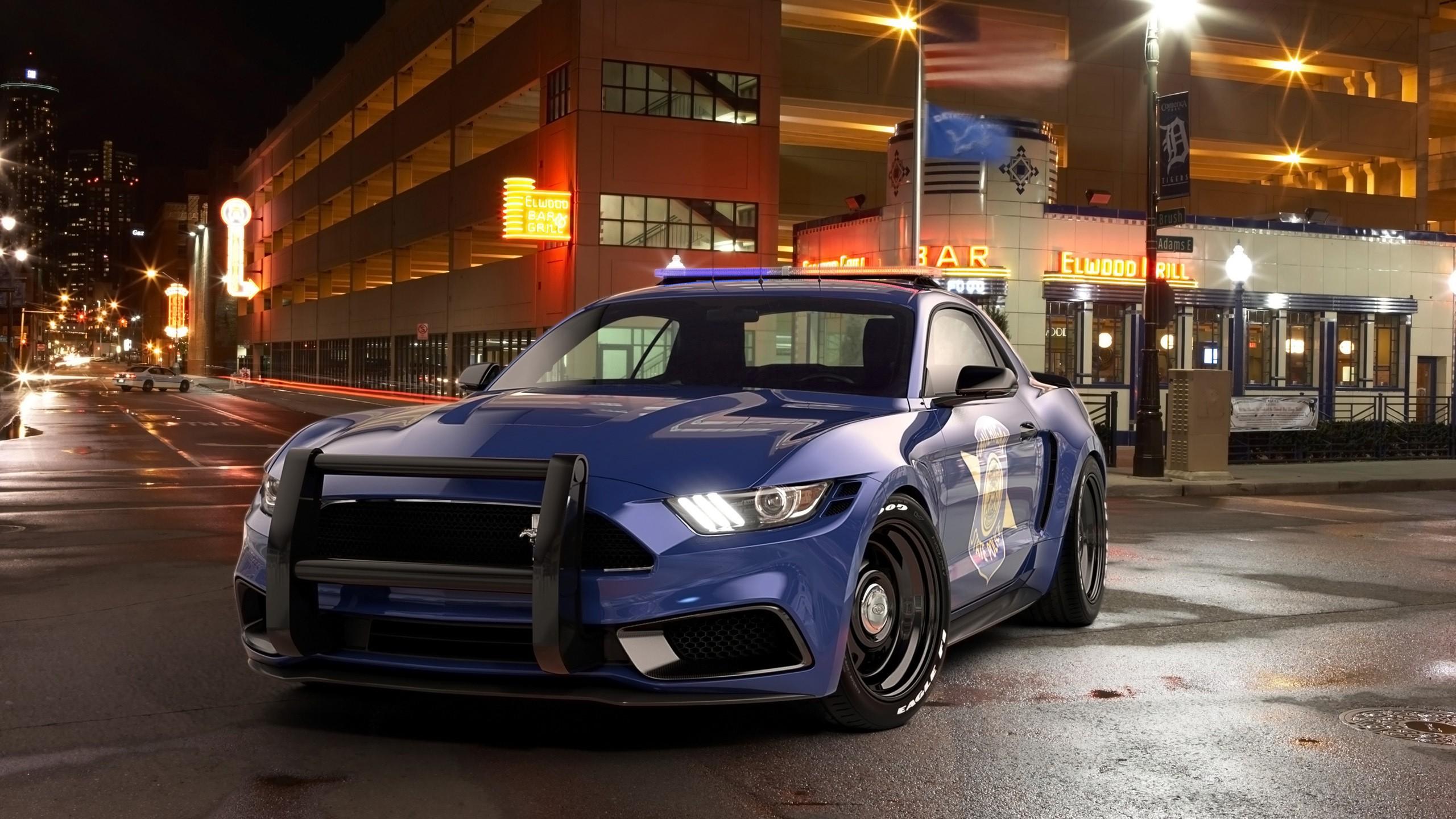 2017 Ford Mustang Notchback Design Police Wallpaper