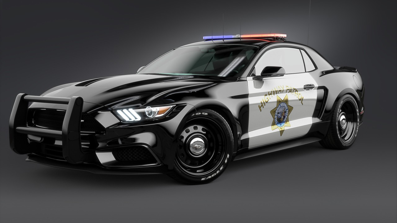 2017 Ford Mustang NotchBack Design Police 2 Wallpaper | HD ...