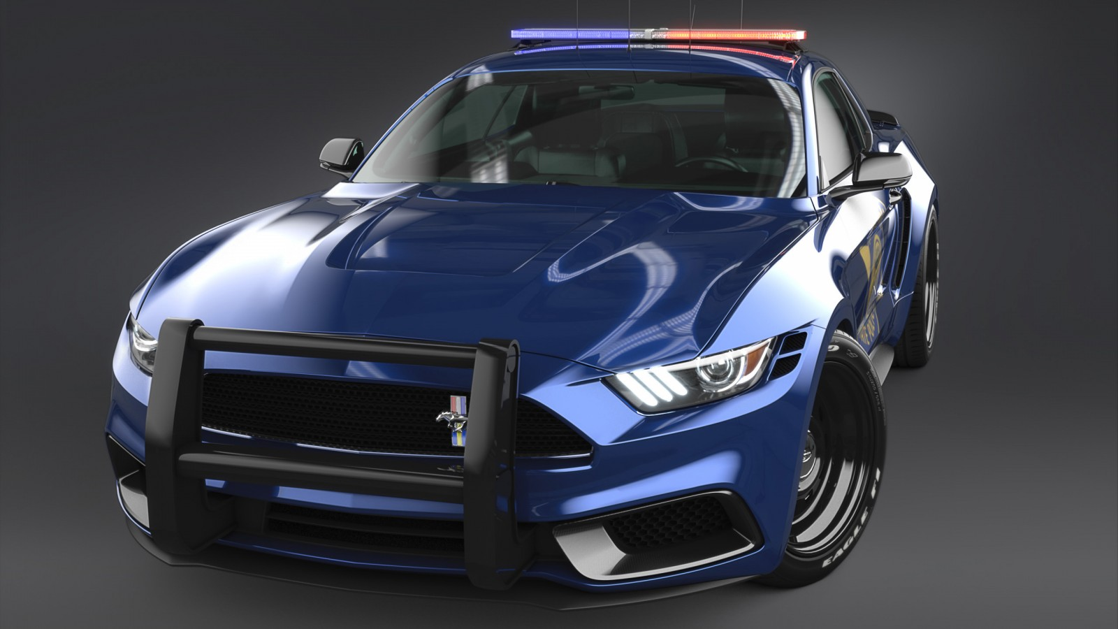 Shelby Gt500 2016 >> 2017 Ford Mustang NotchBack Design Police 3 Wallpaper | HD Car Wallpapers | ID #7650