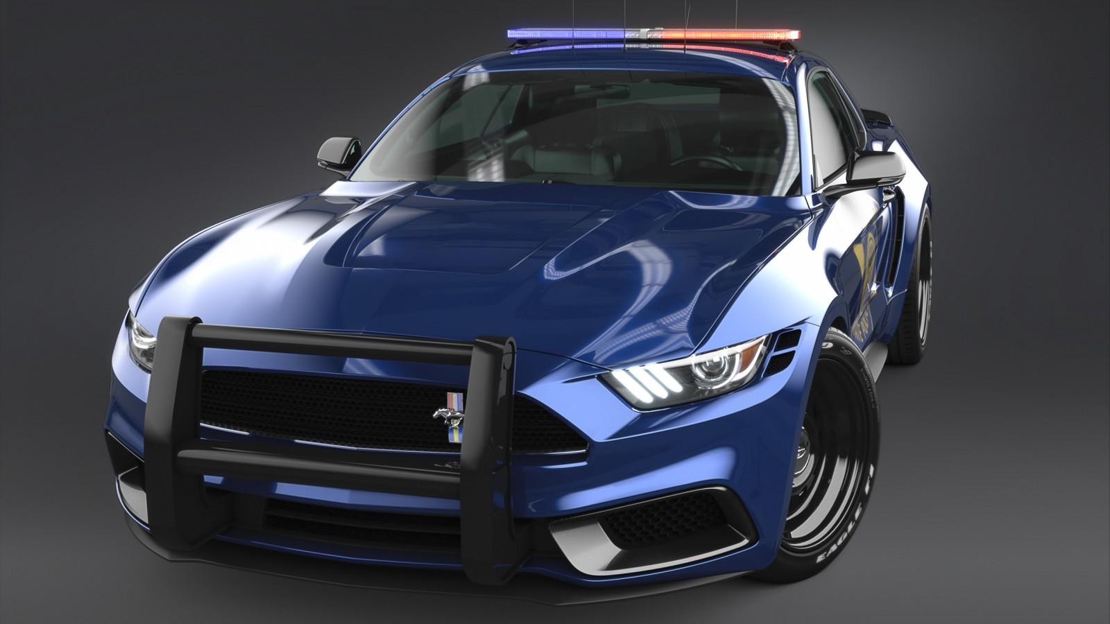 2017 Ford Mustang NotchBack Design Police 3 Wallpaper | HD