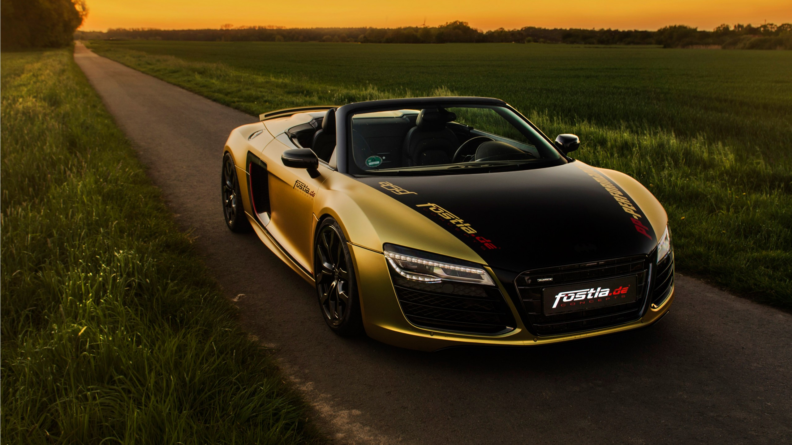 2017 Fostla De Audi R8 V10 Spyder Wallpaper Hd Car