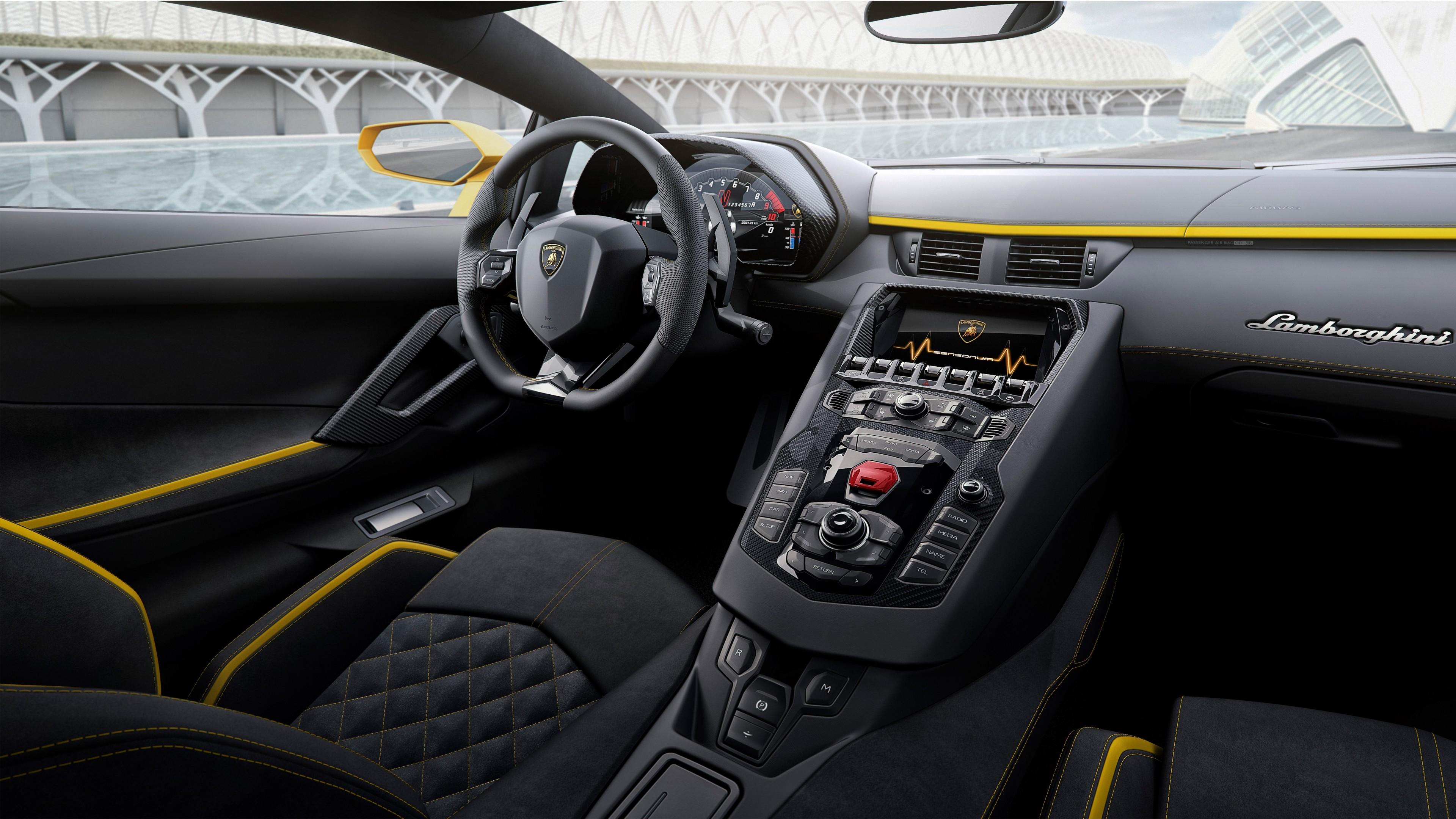2017 Lamborghini Aventador S Interior Wallpaper Hd Car Wallpapers Id 7277