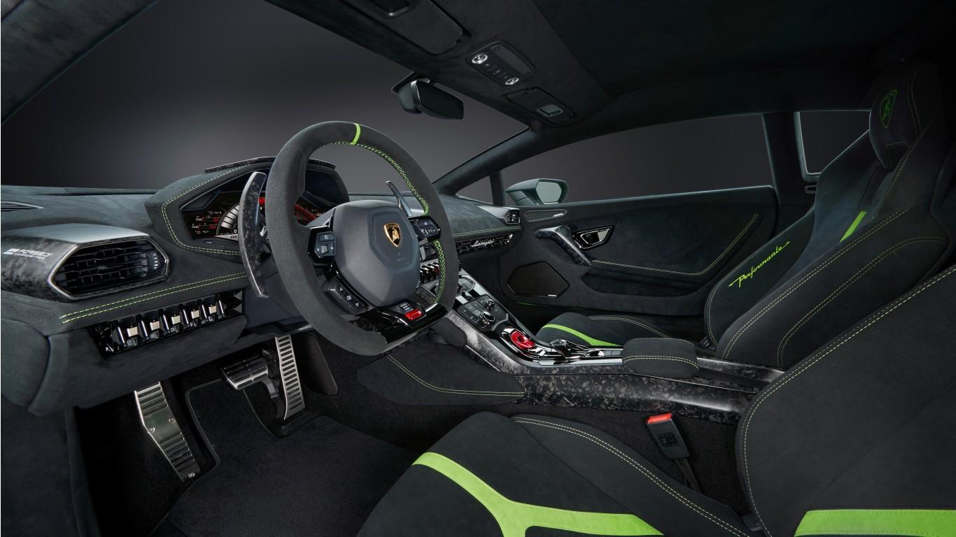 2017 Lamborghini Huracan Performante Interior Wallpaper Hd Car Wallpapers Id 7485