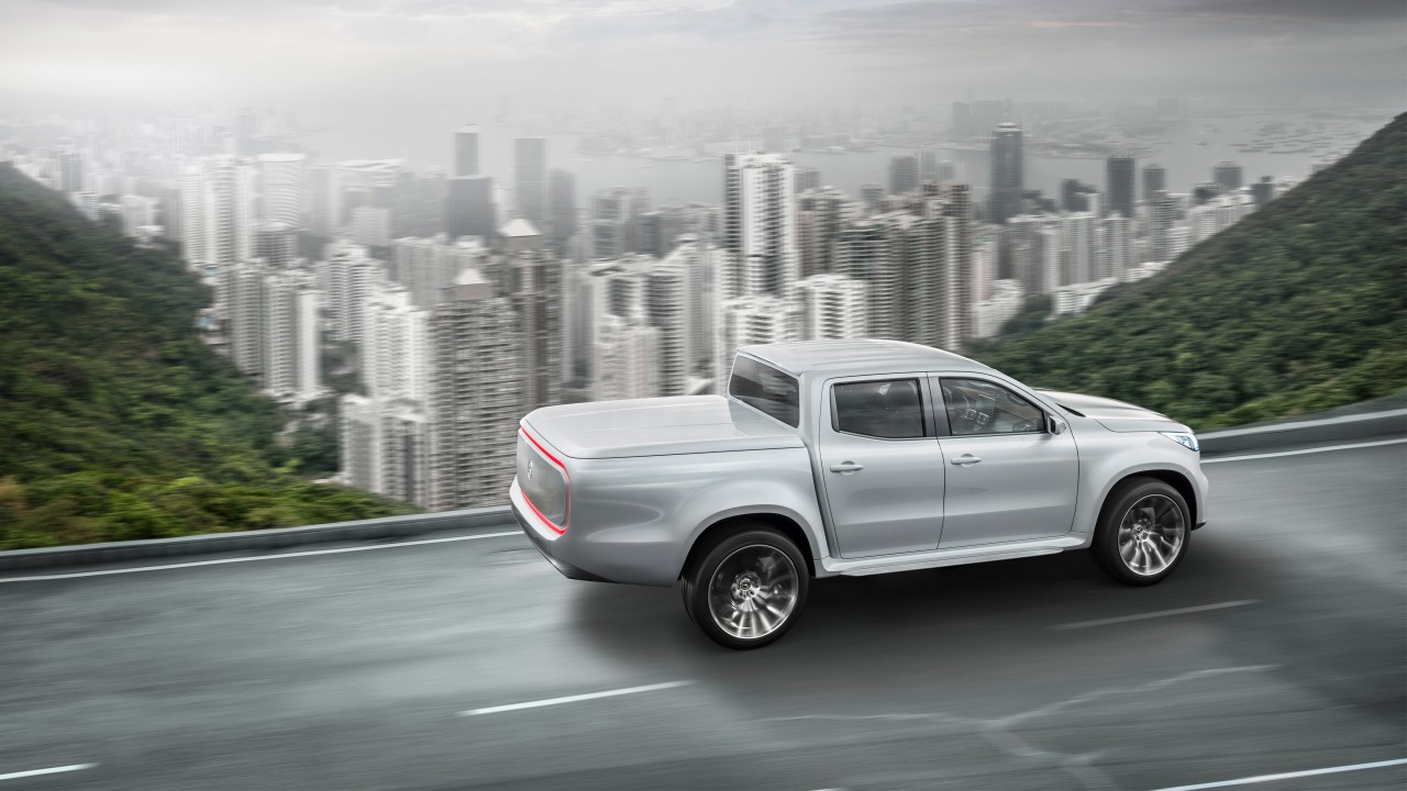 2017 mercedes benz x class pickup truck 2 wallpaper hd