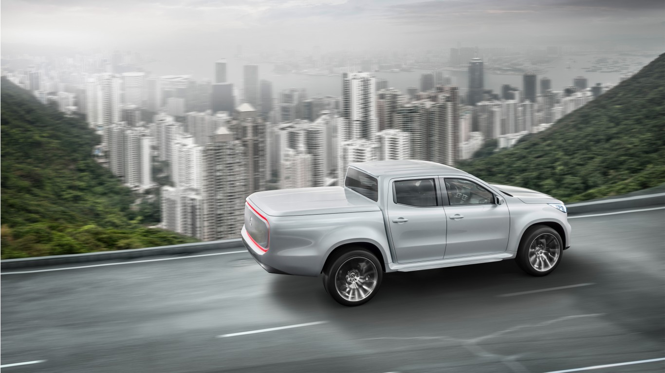 2017 mercedes benz x class pickup truck 2 wallpaper hd for Mercedes benz cars 2017