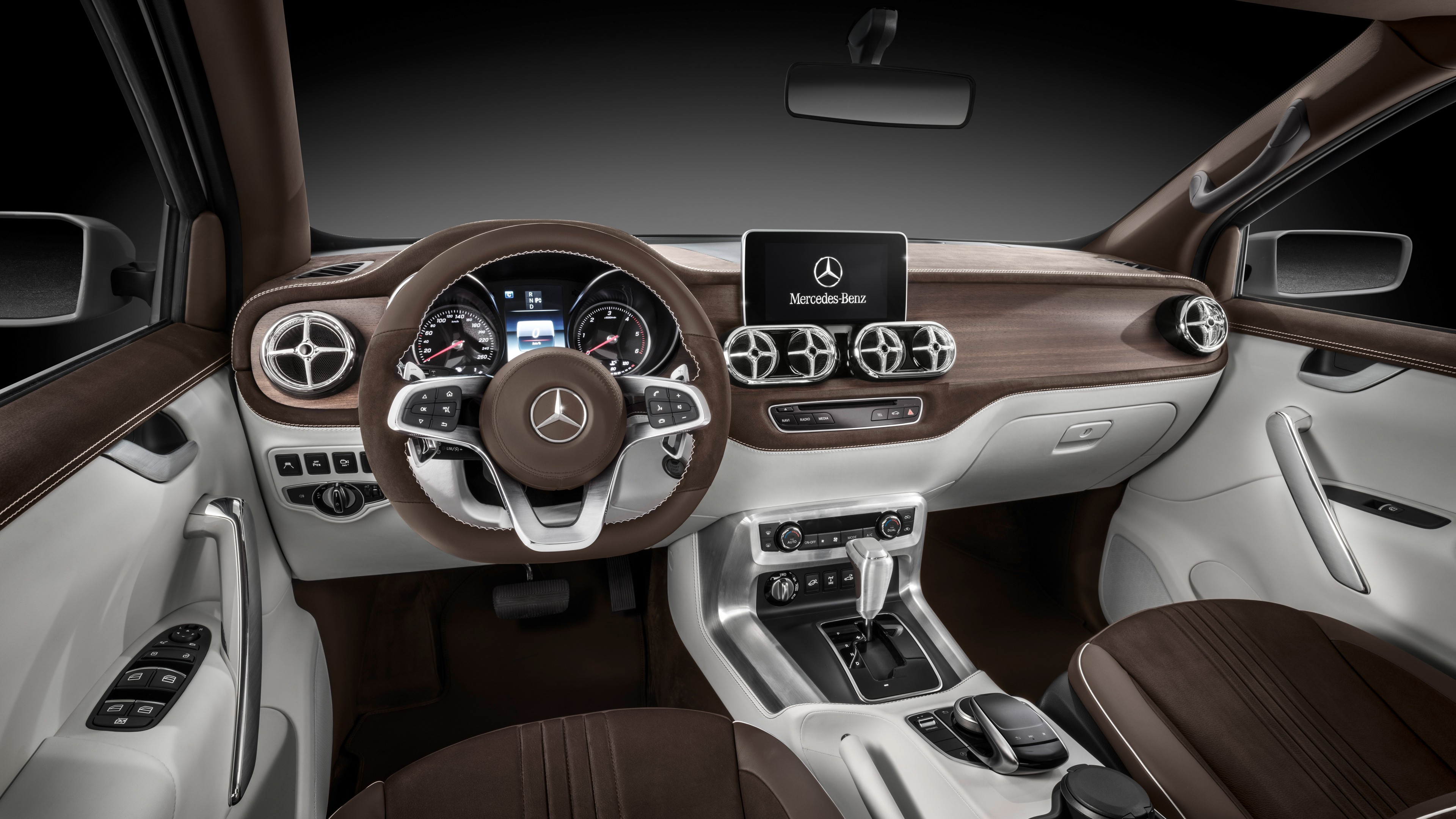 2017 Mercedes Benz X Class Pickup Truck Interior Wallpaper