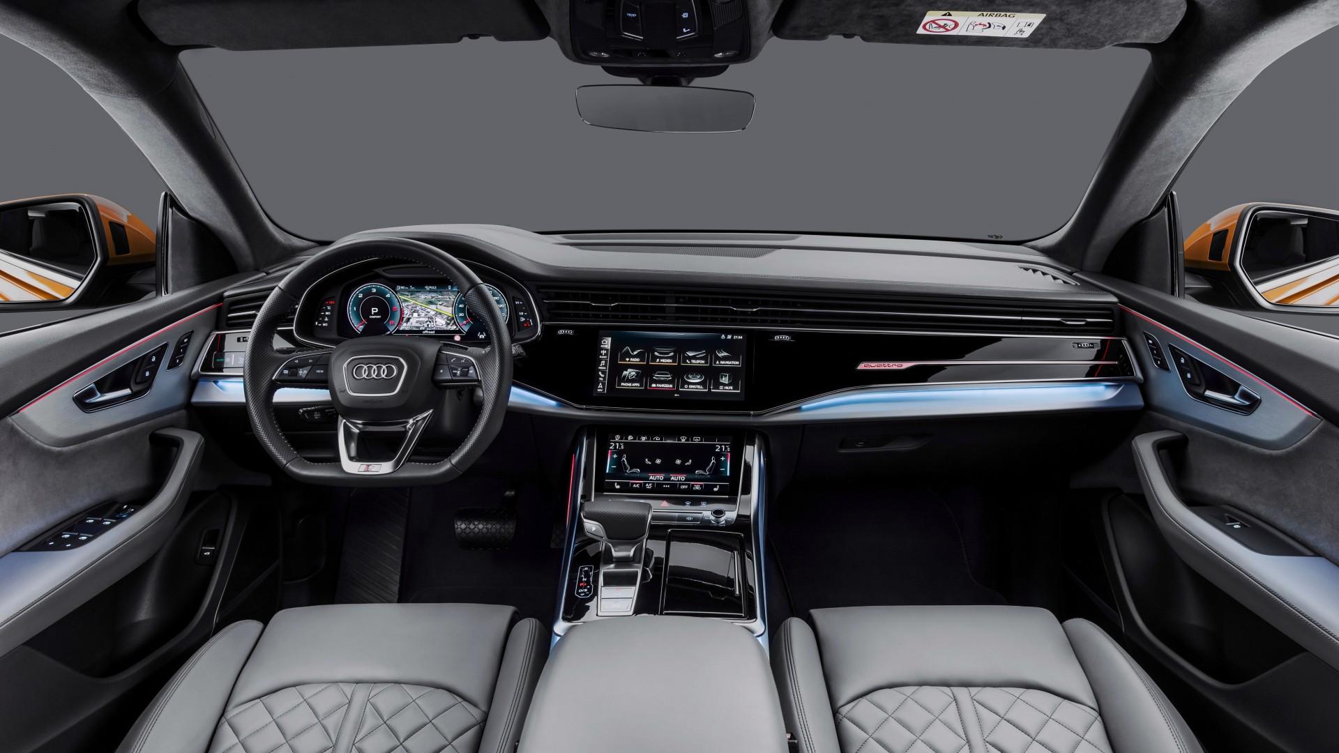 2018 Audi Q8 50 TDI quattro S line 4K Interior Wallpaper ...