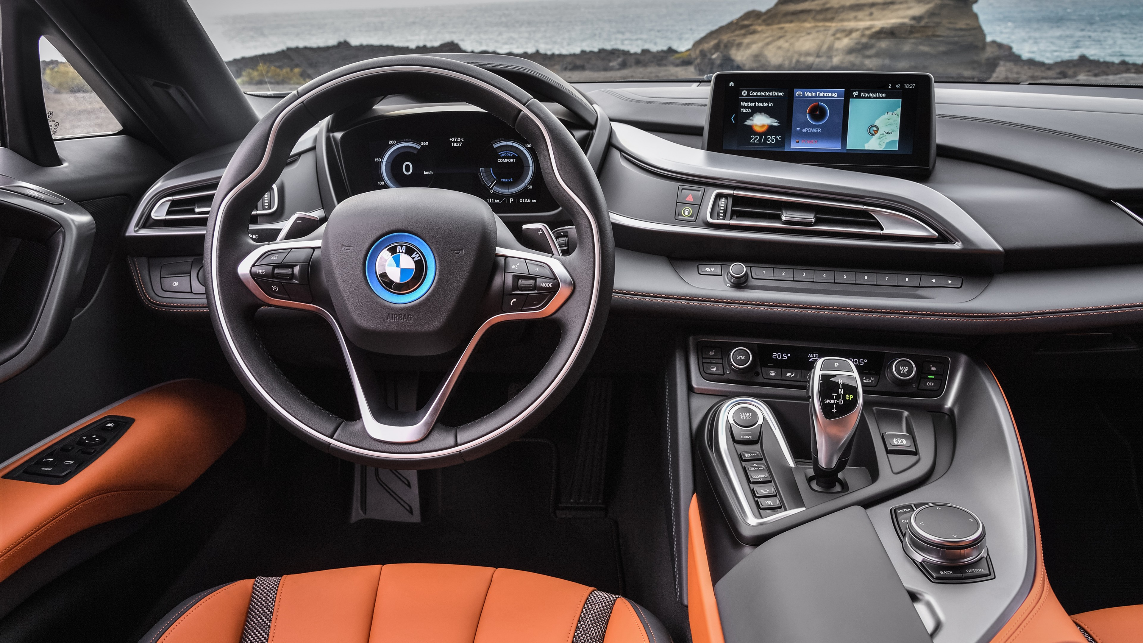 Wallpaper 2018 BMW I8 Roadster 4K Interior