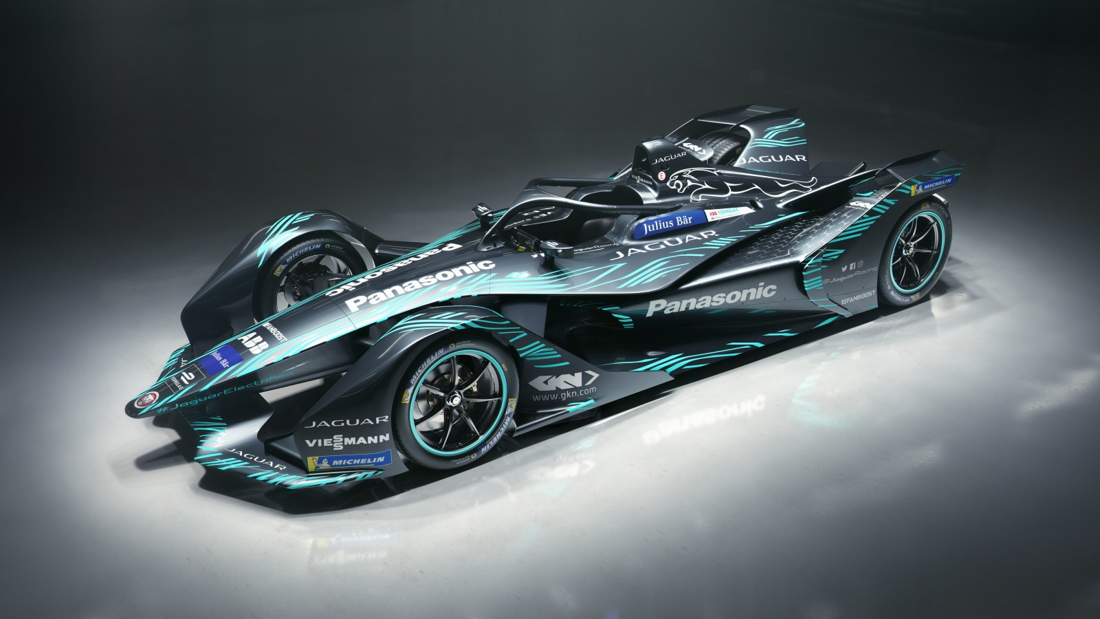 2018 Jaguar I Type Electric Formula E Car 4K Wallpaper
