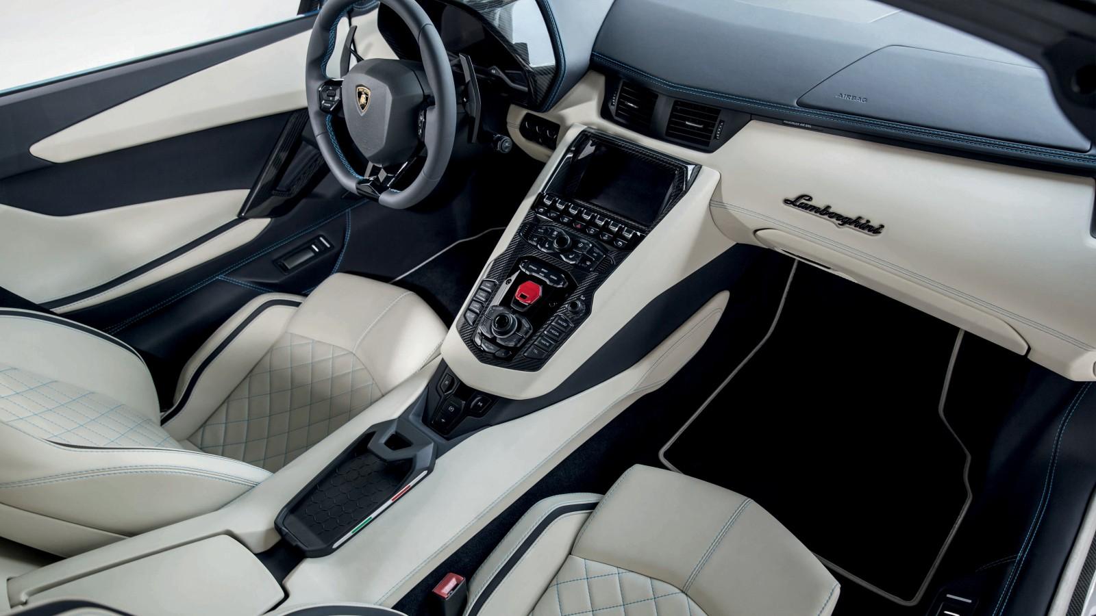 2018 Lamborghini Aventador S Roadster 4K Interior ...
