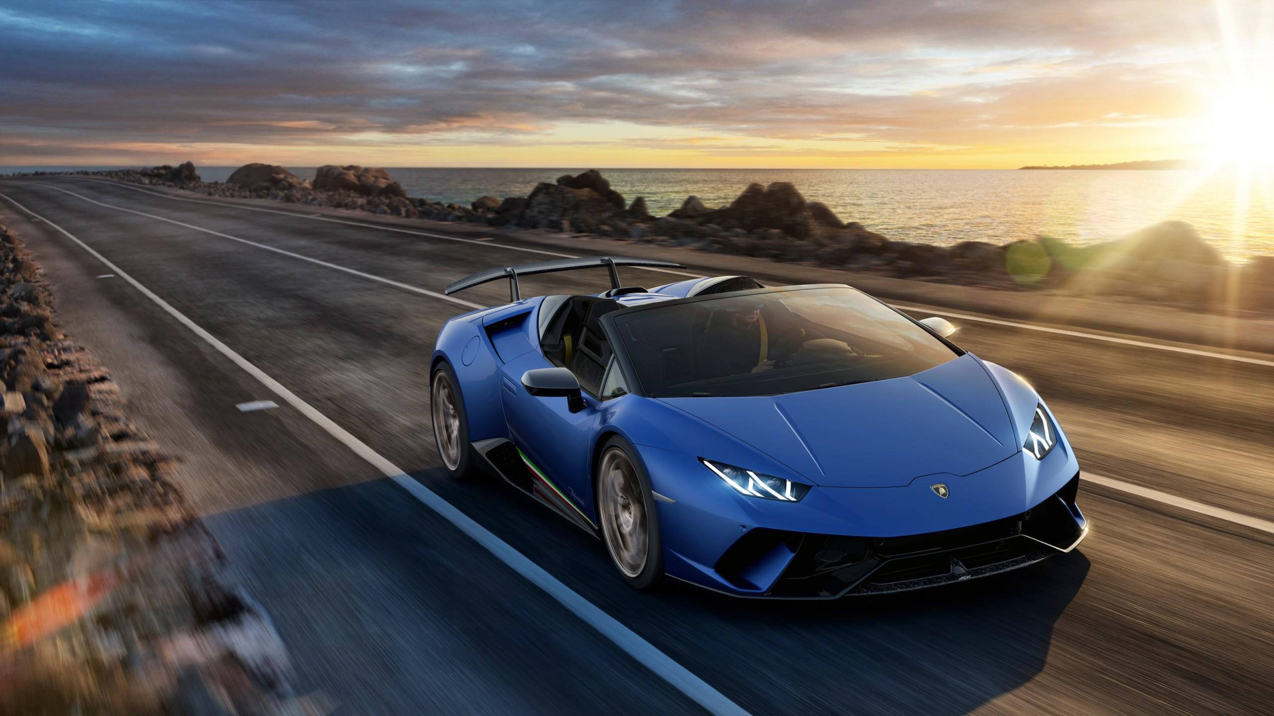 2018 Lamborghini Huracan Perfomante Spyder 2 Wallpaper ...