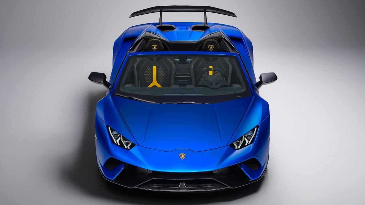 2018 Lamborghini Huracan Perfomante Spyder 4K Wallpaper | HD Car Wallpapers| ID #9801