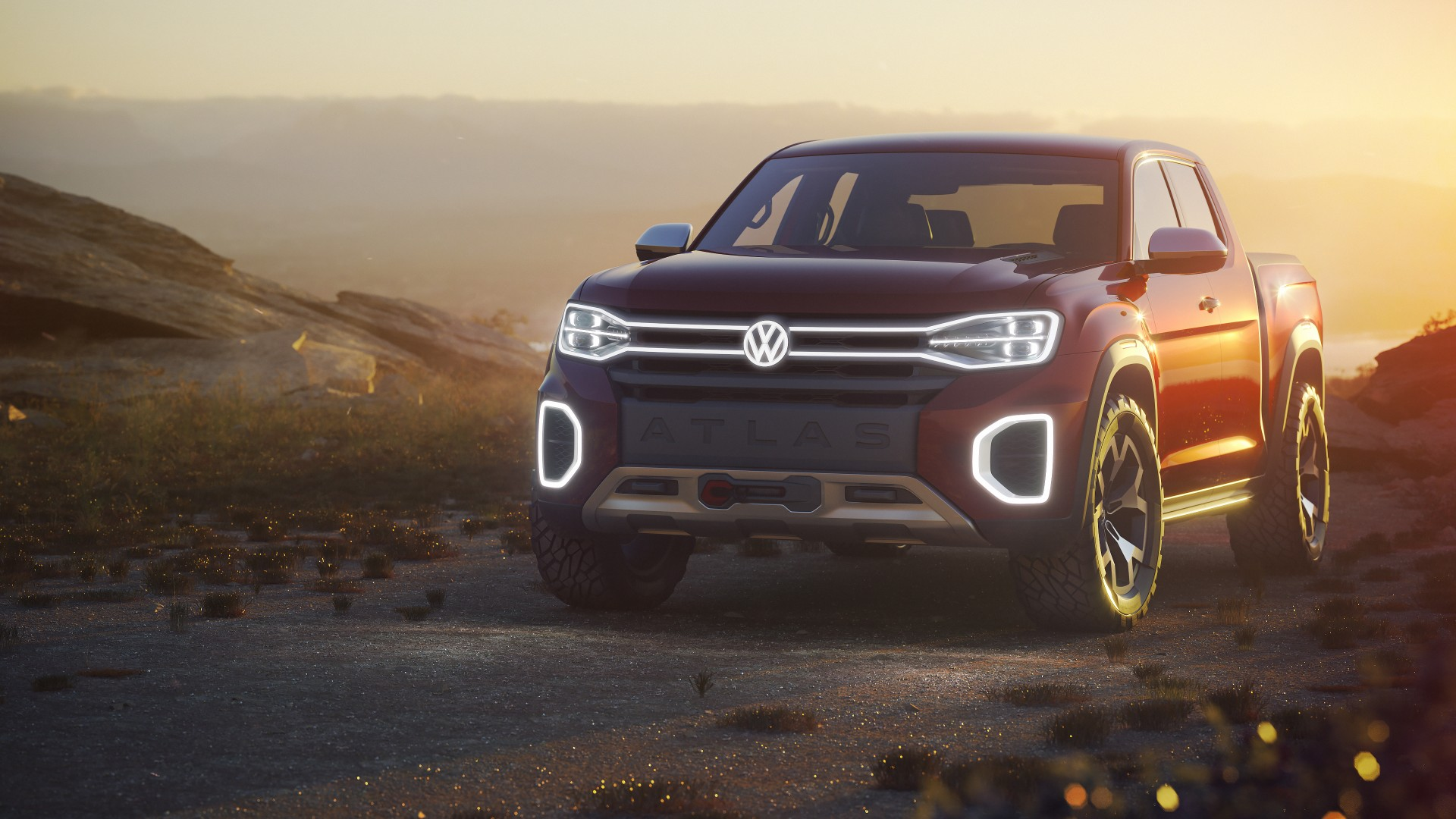volkswagen atlas tanoak pickup truck concept  wallpaper hd car wallpapers id
