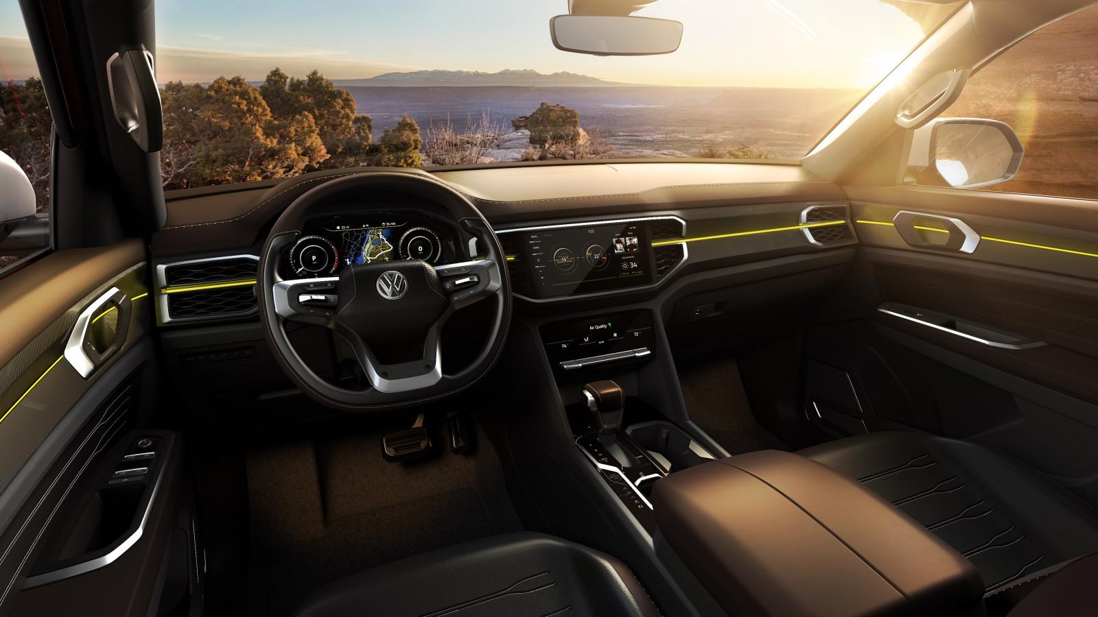 2018 Volkswagen Atlas Tanoak Pickup Truck Concept 4K 2 Wallpaper | HD Car Wallpapers | ID #10094