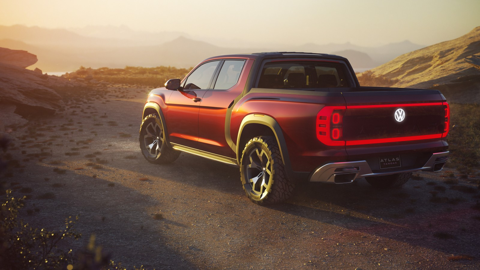 2018 volkswagen atlas tanoak pickup truck concept 4k 3 wallpaper hd car wallpapers. Black Bedroom Furniture Sets. Home Design Ideas