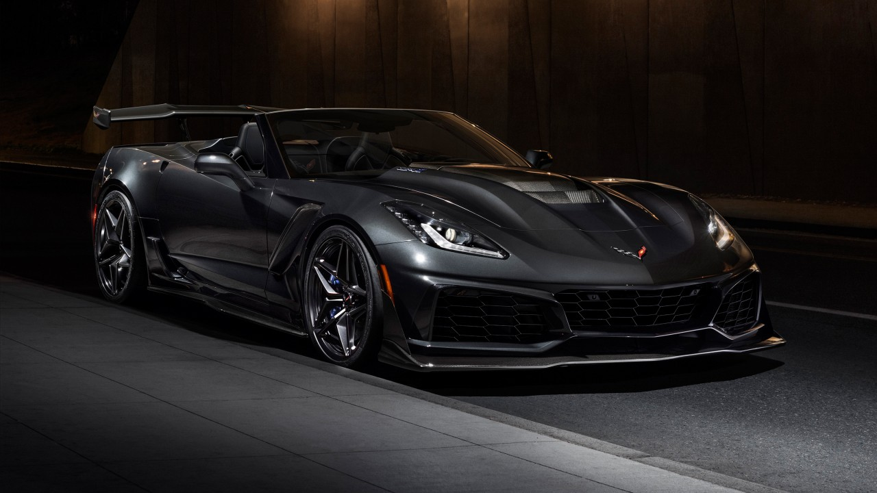 2019 Chevrolet Corvette Zr1 Convertible Wallpaper Hd Car