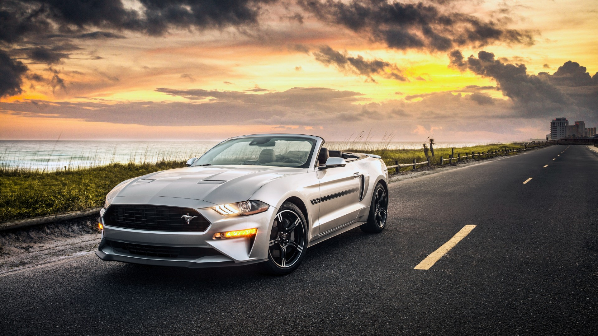 2019 Ford Mustang GT Convertible California 4K Wallpaper ...