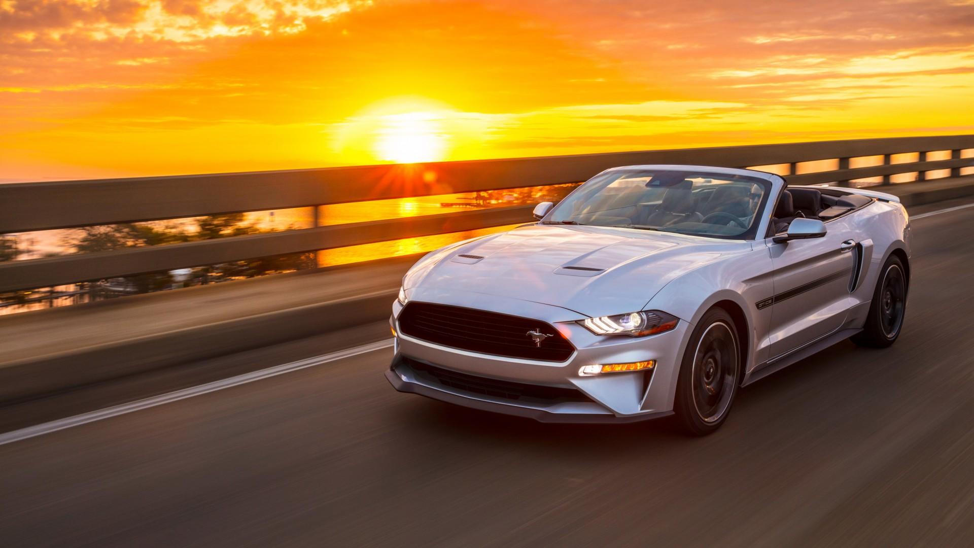 2019 Ford Mustang Gt Convertible California 4k 2 Wallpaper