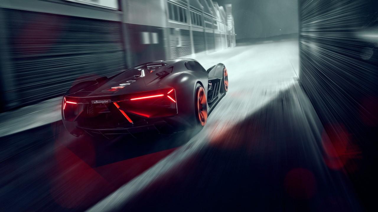 2019 Lamborghini Terzo Millennio Rear 5k Wallpaper Hd