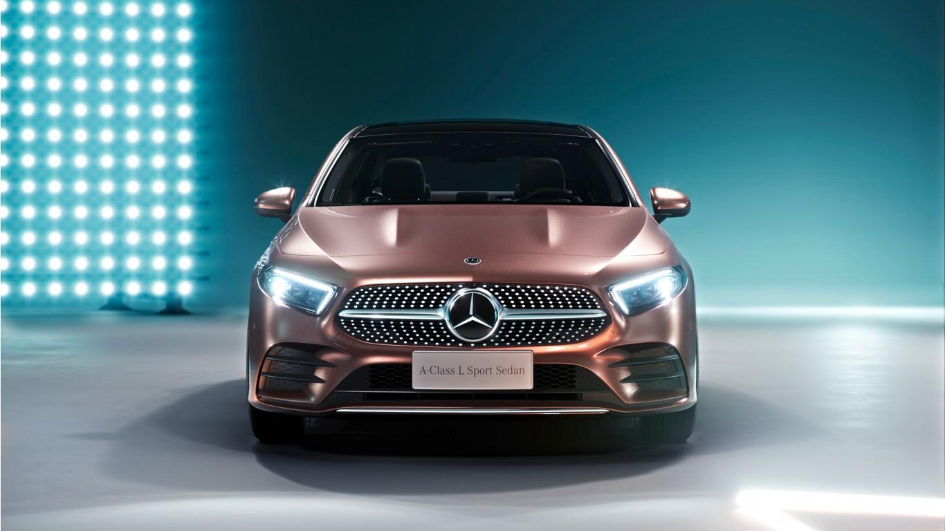 2019 Mercedes Benz A200 L Sport Sedan Wallpaper Hd Car