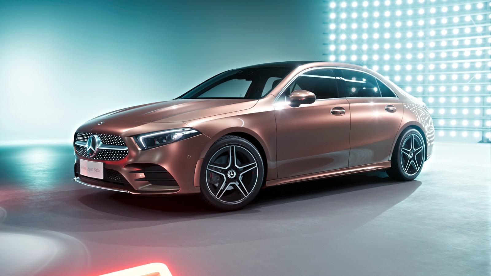 2019 mercedes benz a200 l sport sedan 4k 4 wallpaper hd for Mercedes benz sports sedan