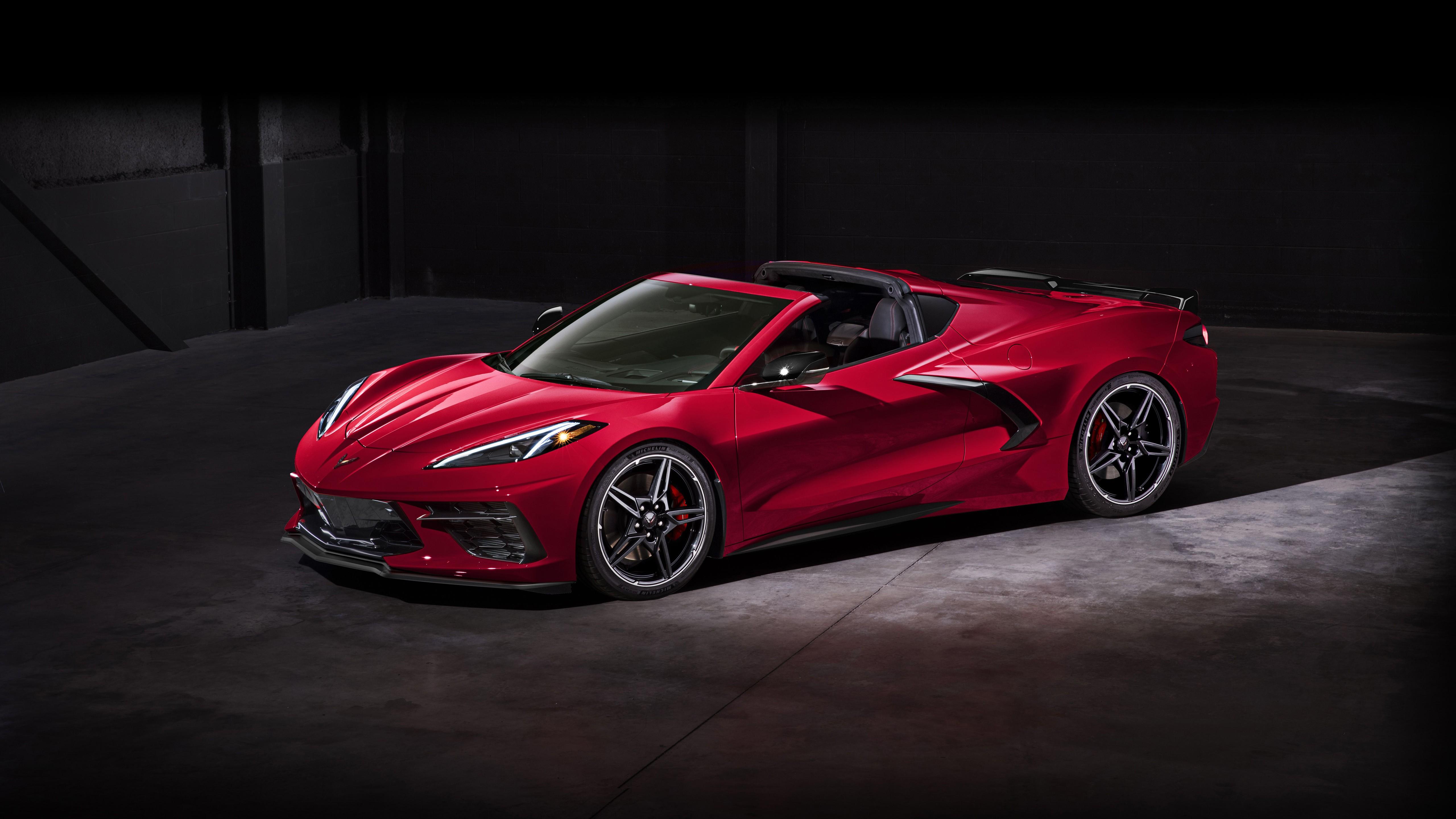 2020 chevrolet corvette stingray z51 convertible 4k wallpaper