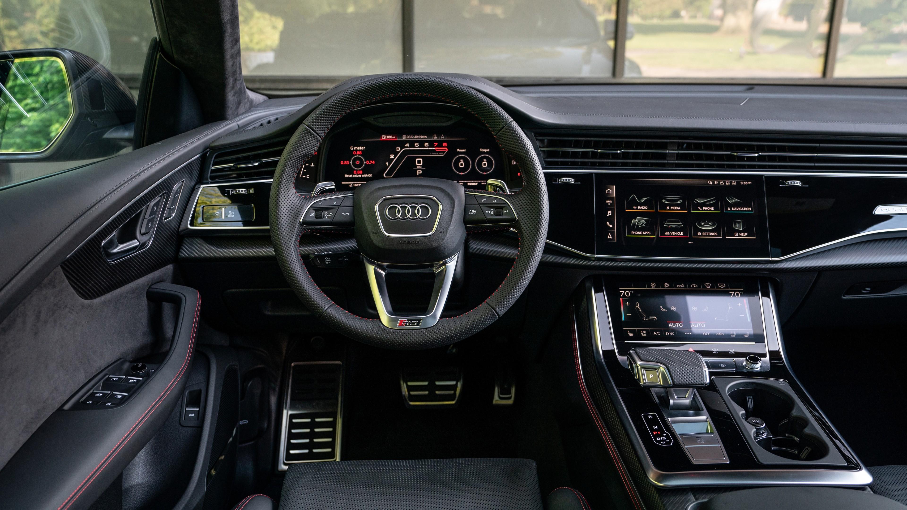2021 Audi Rs Q8 5k Interior Wallpaper Hd Car Wallpapers Id 16110 Audi rs q8 2020 4k interior wallpaper