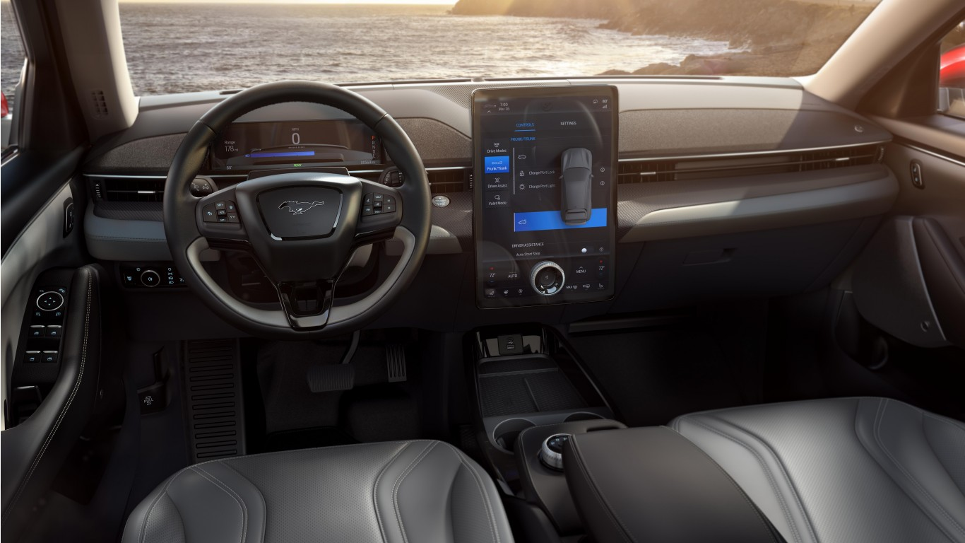 2021 Ford Mustang Mach E 4k Interior Wallpaper Hd Car